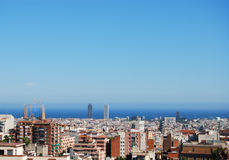 Barcelona. A panoramic view of Barcelona Royalty Free Stock Image