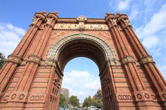Barcelona. The Arc de Triomf (English: Triumphal Arch) - archway structure in Barcelona, Spain. Built by architect Josep Vilaseca i Casanovas. Moorish revival Stock Photo
