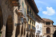Barcelona. Tourist Attraction -Poble Espanyol de Montjuic, otherwise known as the Spanish Village .This attraction is a small Spanish village with different Stock Image