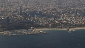 Barcelona from above stock video footage