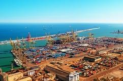 barcelona ładunku port Spain Obraz Stock