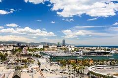 Barcelona - aerial panorama Stock Photography