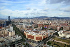 Barcelona Aerial view Royalty Free Stock Photography