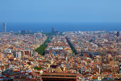 Barcelona aerial view from above Royalty Free Stock Images