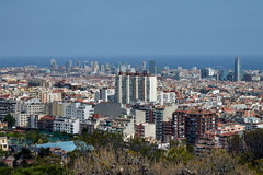 Barcelona aerial view from above Stock Photos
