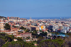 Barcelona aerial view from above Stock Photography
