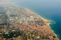 Barcelona. Aerial view of Barcelona, Spain Stock Images