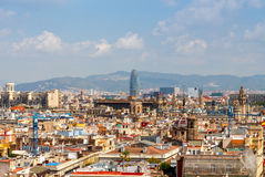 Barcelona agbar torn Royaltyfri Fotografi