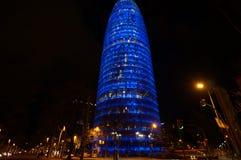Barcelona Agbar torn Royaltyfri Bild