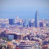 barcelona agbar torre Obrazy Royalty Free