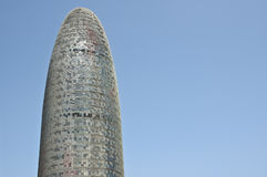 Barcelona Agbar Tower Head View Royalty Free Stock Images