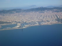 Barcelona from air Royalty Free Stock Images