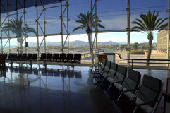 Barcelona airport waiting room view Royalty Free Stock Images