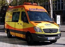 Barcelona Ambulance Stock Images
