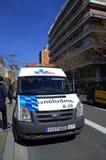Barcelona ambulance Royalty Free Stock Image