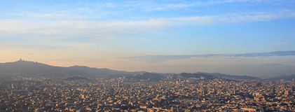 Barcelona-Antenne Stockfotos
