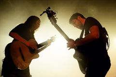Rodrigo y Gabriela band from Mexico in concert at Razzmatazz stage stock photography