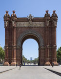 Barcelona - Arc de Triomf - Spain. The Arc de Triomf in Barcelona in the Catalonia region of Spain. This triumphal arch was built for the Exposición Universal Stock Photo