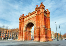 Barcelona, Arc de Triomph, Spain Stock Images