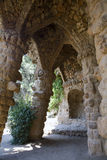 Barcelona - arch from Guell park Stock Photos