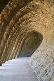 Barcelona - arch from Guell park Royalty Free Stock Image