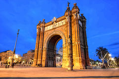 Barcelona - Arch of Triumph Stock Photography