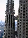 Barcelona architecture on a clear sunny day. Spanish architecture in Barcelona on a clear sunny day Stock Photo