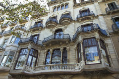 Barcelona. Architecture. Architecture gracefully entered their building in this magnificent ancient city Stock Photos