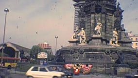 Barcelona archival Mirador de Colom stock video footage