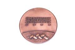 Barcelona 1995 atletyka mistrzostw uczestnictwa Europejski Salowy medal, awers Kouvola, Finlandia 06 09 2016 Obraz Stock