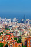 Barcelona Attractions, Cityscape of Barcelona. Royalty Free Stock Images