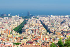 Barcelona Attractions, Cityscape of Barcelona. Stock Images