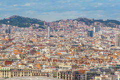 Barcelona Attractions Cityscape of Barcelona Stock Images