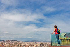 Barcelona Attractions Cityscape of Barcelona Catalonia, Spain. Royalty Free Stock Photography
