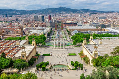 Barcelona Attractions, Plaza de Espana, Catalonia, Spain. Stock Photo