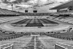 Interior view of the Olympic Stadium, Montjuic, Barcelona, Catal Stock Images