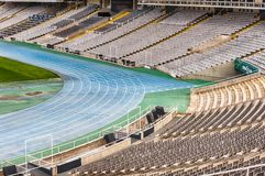 Interior view of the Olympic Stadium, Montjuic, Barcelona, Catal Royalty Free Stock Image