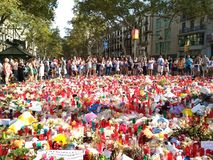 Barcelona, 26 august 2017: march day against terrorism Royalty Free Stock Photo