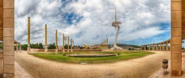 Panoramic view of the Olympic Park, Montjuic, Barcelona, Catalon Royalty Free Stock Photography