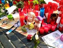 Barcelona, 26 augustus 2017: maart-dag tegen terrorisme Royalty-vrije Stock Foto