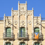 Barcelona balconies Royalty Free Stock Photo