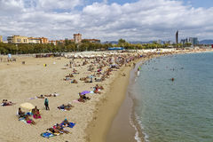 Barcelona, Barceloneta beach Bogatell Royalty Free Stock Image