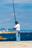 Barcelona. Barceloneta Beach. Barcelona, Spain - September 5, 2015: Barceloneta is one of the most popular city beaches of Barcelona. Many tourists come here to Royalty Free Stock Photos