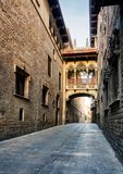 Barcelona - Barri Gothic street, nobody.  Royalty Free Stock Photography