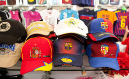 Barcelona Baseball Caps Royalty Free Stock Photos