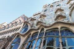 barcelona batllocasa spain berömd byggnad som planläggs av Antoni Gaudi Arkivbild