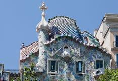 barcelona batlo casa fasada Spain Zdjęcia Royalty Free