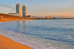 Barcelona beach Stock Image