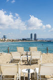 Barcelona beach panorama, Spain Royalty Free Stock Photos
