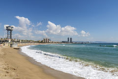 Barcelona beach panorama, Spain Stock Image